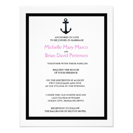 ANCHOR l Nautical Destination Themed Wedding Announcement