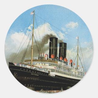 Anchor Line Classic Round Sticker