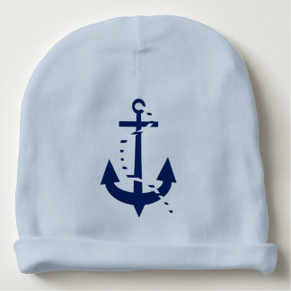 Anchor & Line Navy Baby Beanie