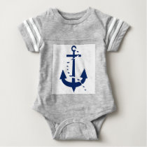 Anchor & Line Navy Baby Bodysuit