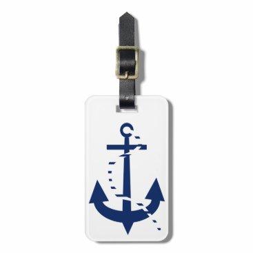 Anchor & Line Navy Bag Tag