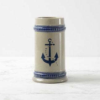 Anchor & Line Navy Beer Stein