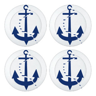 Anchor & Line Navy Button Covers