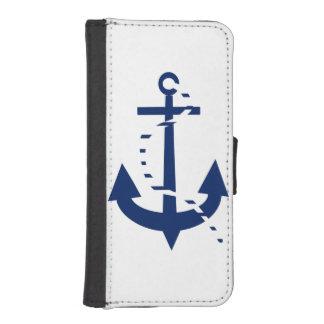 Anchor & Line Navy iPhone SE/5/5s Wallet Case