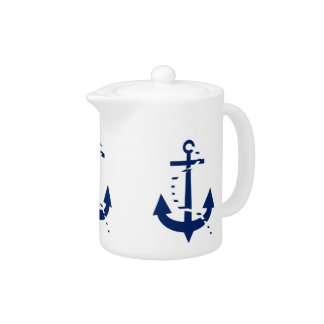 Anchor & Line Navy Teapot