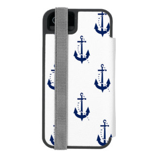Anchor & Line Navy Wallet Case For iPhone SE/5/5s