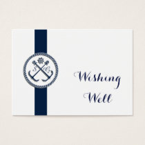 Anchor Monogram Nautical Wedding wishing well card
