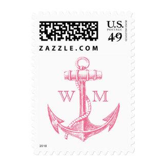Anchor Monogram Postage Stamp