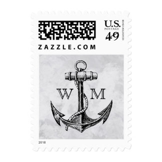 Anchor Monogram Postage
