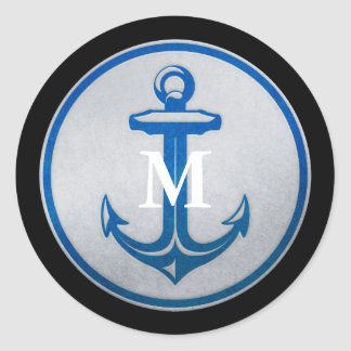 Anchor Monogrammed Sticker