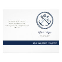 Anchor Monograms, Nautical wedding bifold programs Flyer