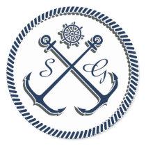 Anchor Monograms, Nautical wedding envelopes seals
