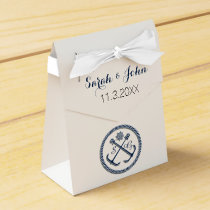 Anchor Monograms, Nautical wedding  favor box