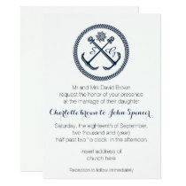Anchor Monograms, Nautical Wedding Invitations