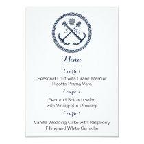 Anchor Monograms, Nautical wedding menu cards