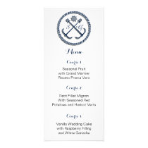 Anchor Monograms, Nautical wedding  menu cards