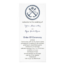 Anchor Monograms, Nautical wedding programs