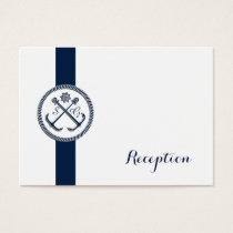 Anchor Monograms, Nautical Wedding Reception cards