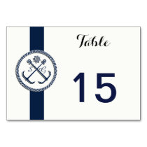 Anchor Monograms, Nautical Wedding table numbers