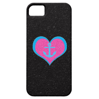 Anchor my Heart on Black Rock Candy iPhone 5 Case