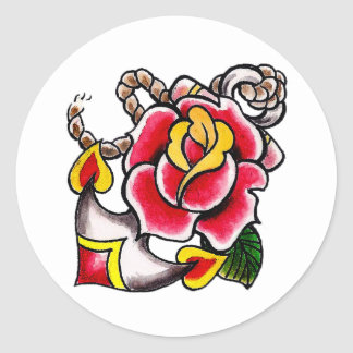 Anchor-n-Rose Sticker