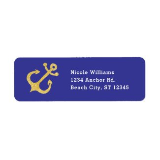 Anchor Nautical Address Label