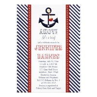 Anchor Nautical Baby Shower Invitations