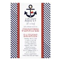 Anchor Nautical Baby Shower Invitations