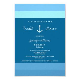 Anchor Nautical Bridal Shower Invitations