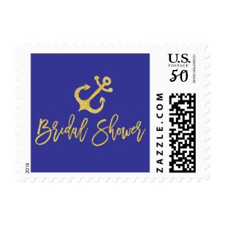 Anchor Nautical Bridal Shower Postage