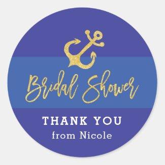 Anchor Nautical Bridal Shower Sticker
