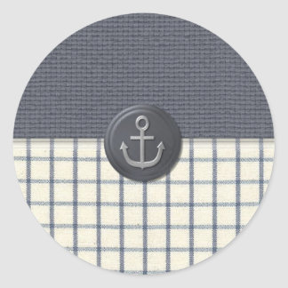 Anchor Nautical Classic Round Sticker
