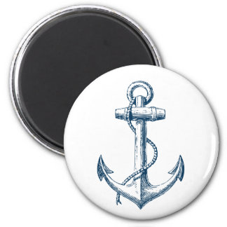 Anchor Nautical Decor Magnet Gift Navy Blue White