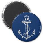 Anchor Nautical Decor Magnet Gift Navy Blue White