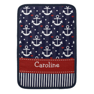 Anchor Nautical Macbook Air Sleeve 13 / 11 Inch