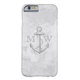 Anchor, Nautical Monogram Barely There iPhone 6 Case