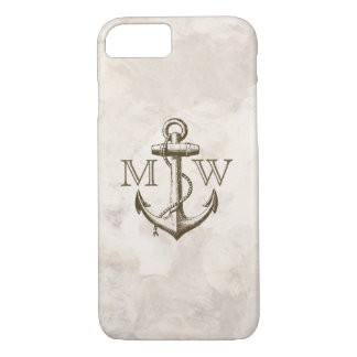 Anchor, Nautical Monogram iPhone 7 Case