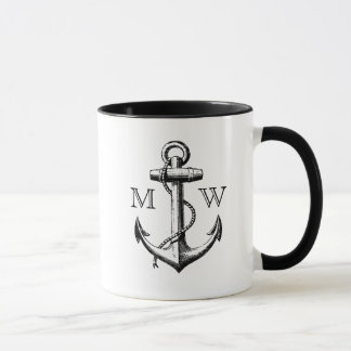 Anchor, Nautical Monogram Mug