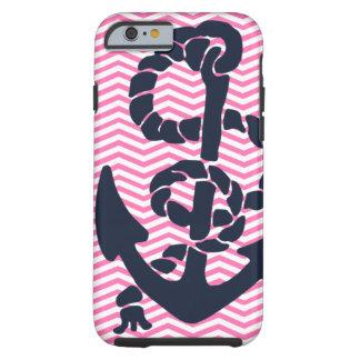 Anchor Nautical Pink Navy Chevron iPhone 6 case 4