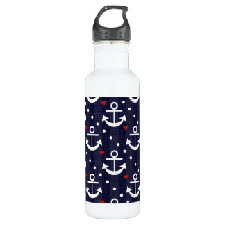 Anchor Nautical Themed BPA Free Stainless Steel Water Bottle