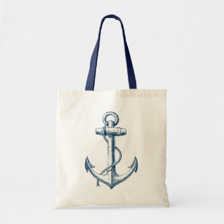Anchor Nautical Tote Bag Gift Navy Blue White