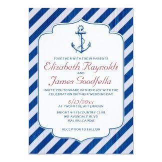 Anchor Nautical Wedding Invitations