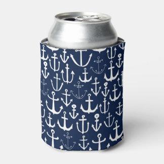 Anchor Navy Sailing Nautical Ocean / Andrea Lauren Can Cooler