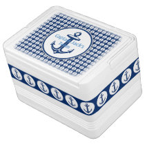 Anchor on Anchors Pattern - Personalizable Cooler