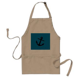 Anchor on Blue Custom BBQ Apron