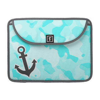 Anchor on Celeste Camo; Camouflage Sleeve For MacBook Pro