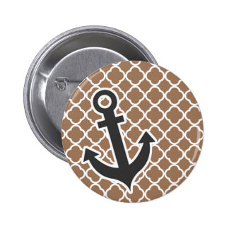 Anchor on Chamoisee Quatrefoil Pin