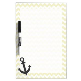 Anchor on Cream Chevron; zig zag Dry-Erase Boards