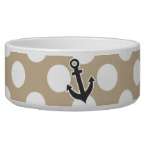 Anchor on Khaki Polka Dots Bowl