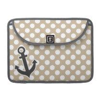 Anchor on Khaki Polka Dots Sleeve For MacBooks